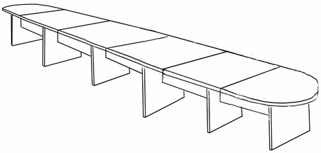 24′ Maple Laminate Conference Table