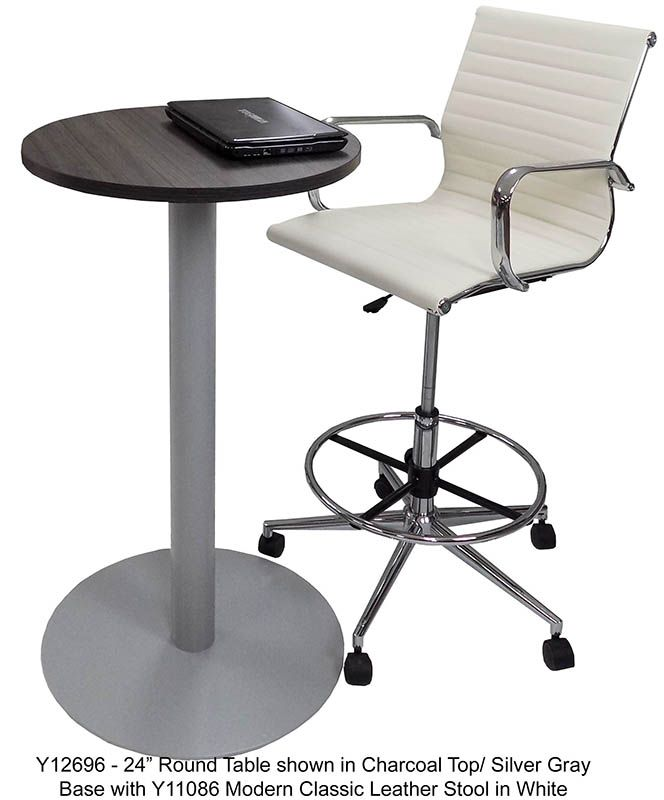 Metal Disc Base Cafe Bar Height Table