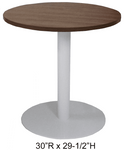 """24"""" Round x 29""""H Metal Disc Base Meeting/Conference/Cafeteria Table - Other Sizes Available!"""
