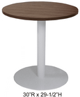 "24"" Round x 29""H Metal Disc Base Meeting/Conference/Cafeteria Table - Other Sizes Available!"