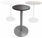 "24"" Round  x 41""H Metal Disc Base Cafe/Bar Height Table - Other Sizes Available"