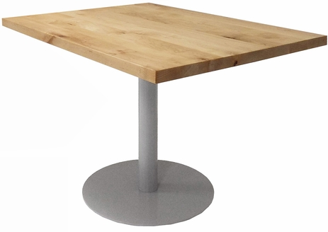3' x 4' Solid Wood Add-On Conference Table with Disc Base