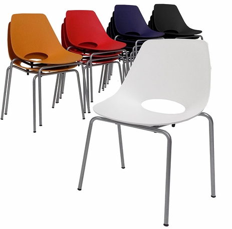 300 lb. Capacity Scoop Stacking Chair