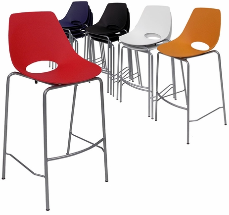 300 lb. Capacity Stackable Scoop Office Stool w/ 29-5/8