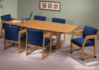 """33""""/36"""" x 60"""" Solid Oak Boat Shaped Conference Tables-See Other Sizes"""