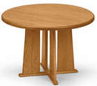 """36"""" Solid Oak Round Conference Tables - See Other Sizes"""