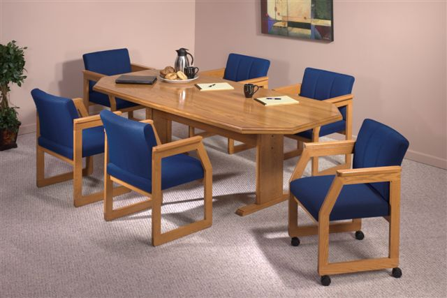 36 X 72 Solid Oak Octagonal Conference Tables See Other Sizes
