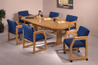 """36"""" X 72"""" Solid Oak Octagonal Conference Tables - See Other Sizes"""