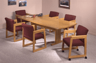 "36""x60"" Solid Oak Curved End Conference Table - See Other Sizes"