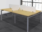 """4-Person Benching Workstation w/ 48"""" x 24"""" Worksurfaces"""