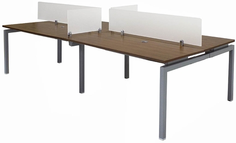 4-Person Benching Workstation w/ 60