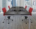"""4-Person Collaborative Open Office Benching Workstation w/48"""" x 24"""" Worksurfaces"""