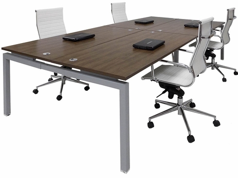 4-Person Collaborative Open Office Benching Workstation w/66