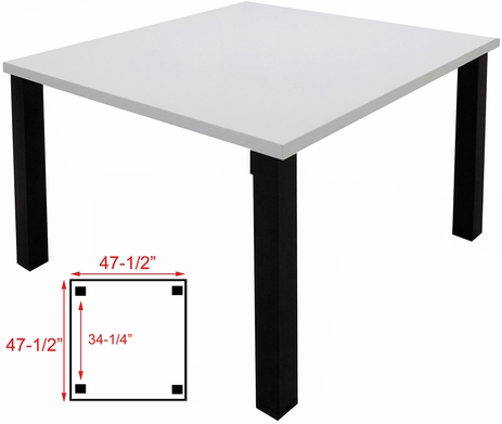 4' x 4' Conference/Meeting Table w/Square Post Legs