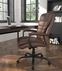 400 Lbs. Capacity Brown Bonded Leather Big & Tall Executive Chair