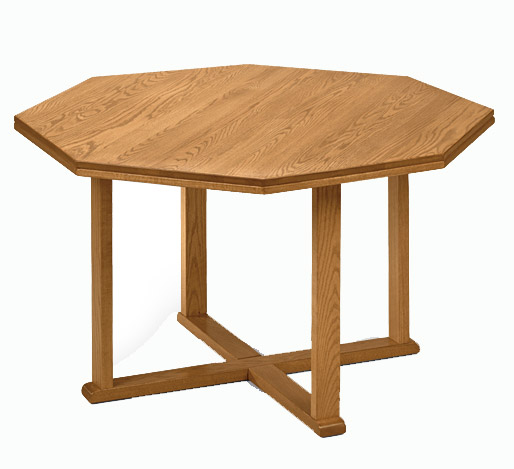 42 Solid Oak Octagonal Conference Table