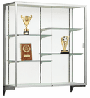 "48""H Champion Aluminum Frame Wall Mount Locking Display Cases"
