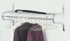 48�W Chrome Wall Mounted Coat Rack with Hangers