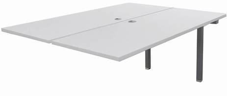 5' Add-On Technology Table w/Two 60� x 24� Worksurfaces