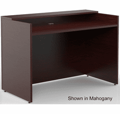 5'W Classic Custom Standing Height Reception Desk