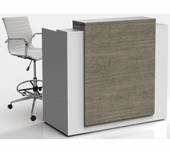 5'W Contrasts Custom Standing Height Reception Desk w/ Drawers