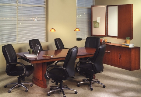 6' Sorrento Bourbon Cherry Rectangular Conference Table - See Other Sizes