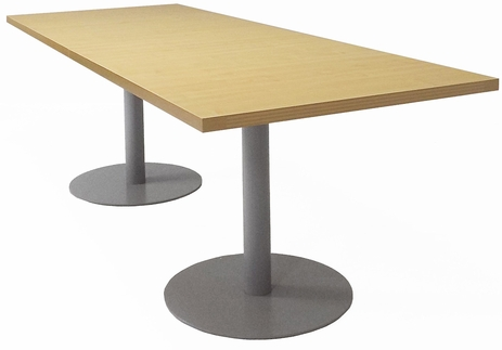 6'x4' / 8'x3' Conference Table w/Steel Disc Bases - See Other Sizes