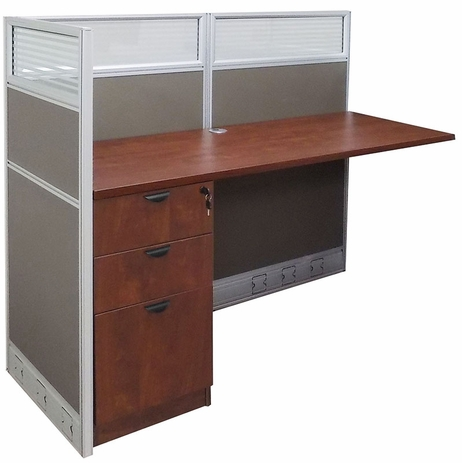 60�W x 24�D x 48�H Value Series Add-On Cubicle