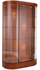 """74-1/2""""H Curved Wall Locking Display Case w/Casters"""