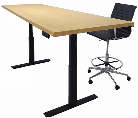 8' x 3' Rectangular Adjustable Electric Lift Conference Table