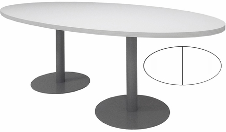 8' x 4' Oval Disc Base Conference Table