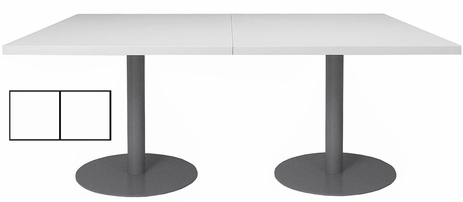 8' x 4' Rectangular Disc Base Conference Table
