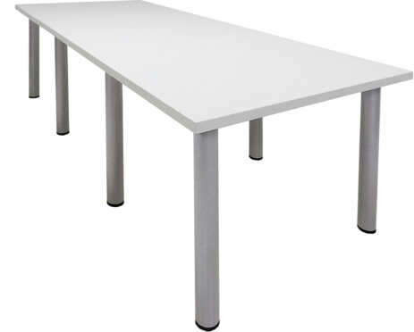 9' x 4' White Conference Table