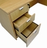 Adjustable Height Bow Front U-Shaped Desk w/Hutch in Maple