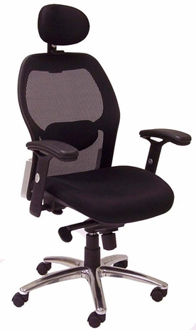 Advanced Ergonomic Mesh Back Ultra Office Chair w/Headrest