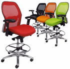 "Advanced Ergonomic Ultra Office Stool w/25""-32"" Seat Height"