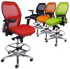 Advanced Ergonomic Ultra Office Stool w/25�-32� Seat Height