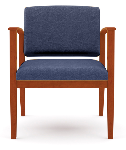 Amherst Wood Frame 400 lb Capacity Guest Chair in Standard Fabric or Vinyl - See More Sizes