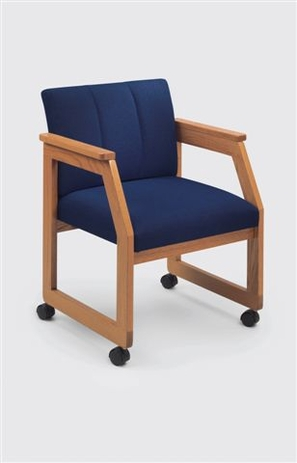 Angle Arm Guest Chair with Casters