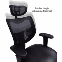 Antimicrobial Vinyl 24/7 400 lb. Cap. Multi-Shift Chair w/Mesh Back & Headrest