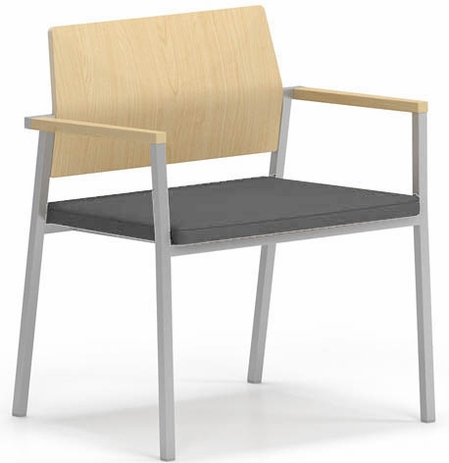 Avon 400 lb Cap. Guest Chair - Plywood Back / Upholstered Seat � Upcharge Fabric or Healthcare Vinyl