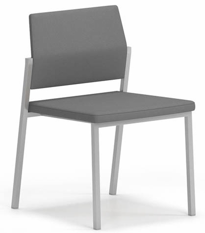 Avon Fully Upholstered Stackable Armless Chair � Upgrade Fabric or Healthcare Vinyl