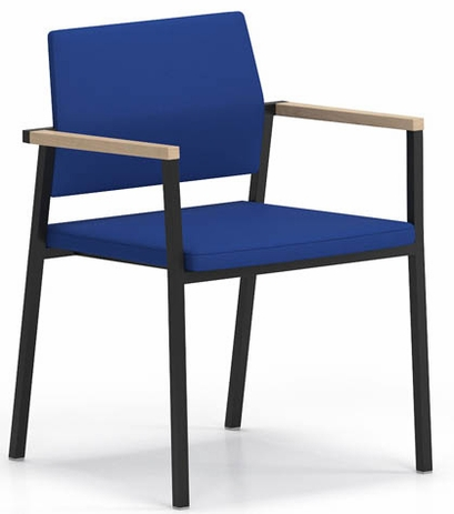 Avon Fully Upholstered Stackable Guest Chair in Standard Fabric or Vinyl
