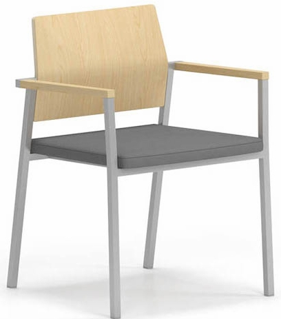 Avon Plywood Back /Fabric Seat Stackable Guest Chair in Upgrade Fabric or Healthcare Vinyl