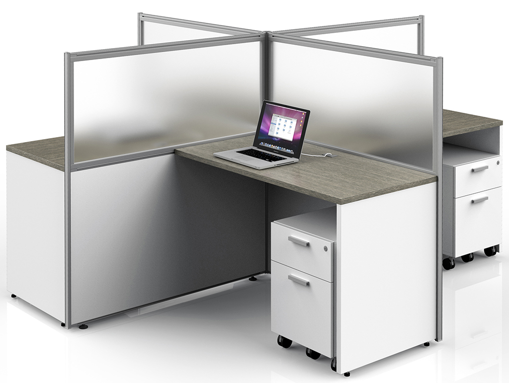 Basics Custom Cubicle - 8' x 8' / 4-Person Workstation