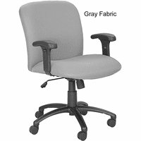 Big & Tall Mid-Back Chair w/Adjustable Arms - 500 lb. Capacity