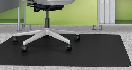 Black Chair Mats for Low Pile Carpets - 36