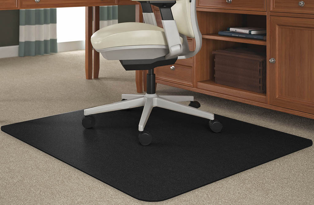 Black Chair Mats For Medium Pile
