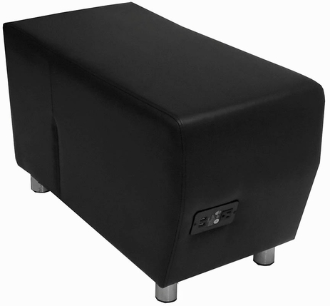 Black Leather Powered & USB Charging Bench
