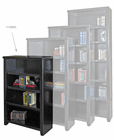 "Black Wood Veneer Bookcases - 48""H Bookcase"